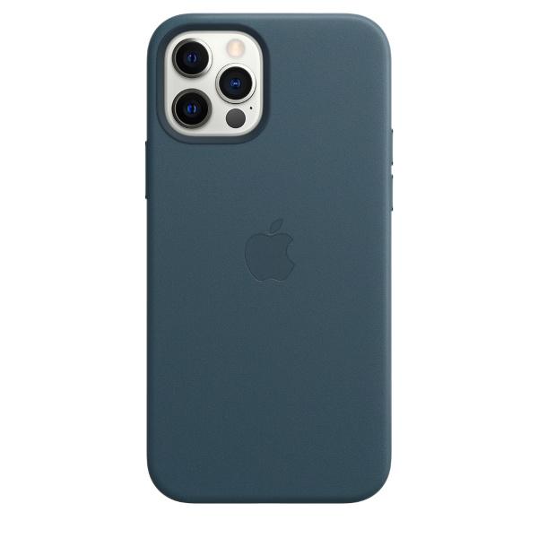 iPhone 12/12 Pro / Apple / Läderskal / MagSafe - Blå