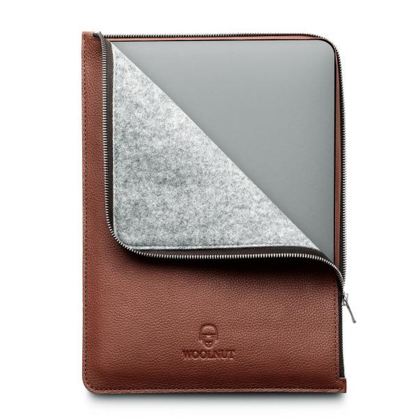 Woolnut MacBook Pro & Air 13 tum (Nya Modellen) Läderfolio - Cognac-Brun (Fyndvara - Klass 1)