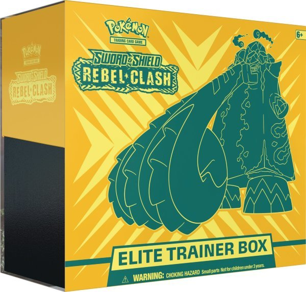 Pokemon Sword & Shield 2: Rebel Clash Elite Trainer Box(Kartongskada)
