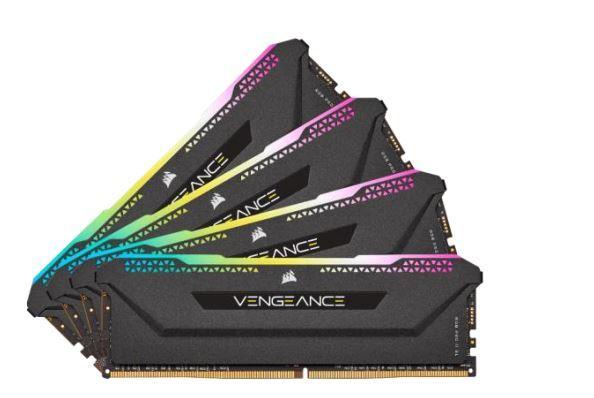 Corsair Vengeance RGB PRO SL 32GB (4x8GB) / 3600MHz / DDR4 / CL18 / CMH32GX4M4D3600C18