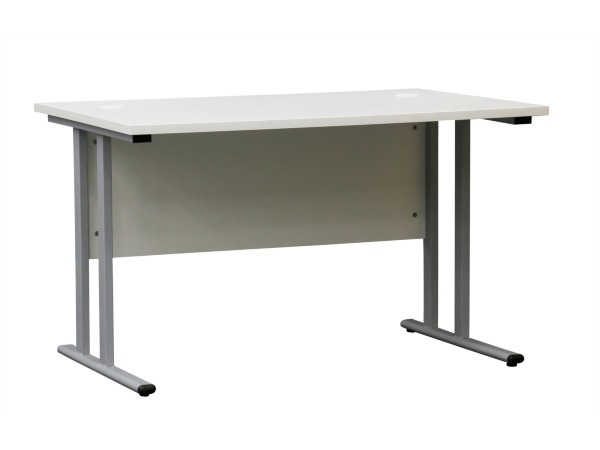 iiglo Skrivbord med innsynskärming och kabelhål - Vit (Fyndvara - Klass 1)