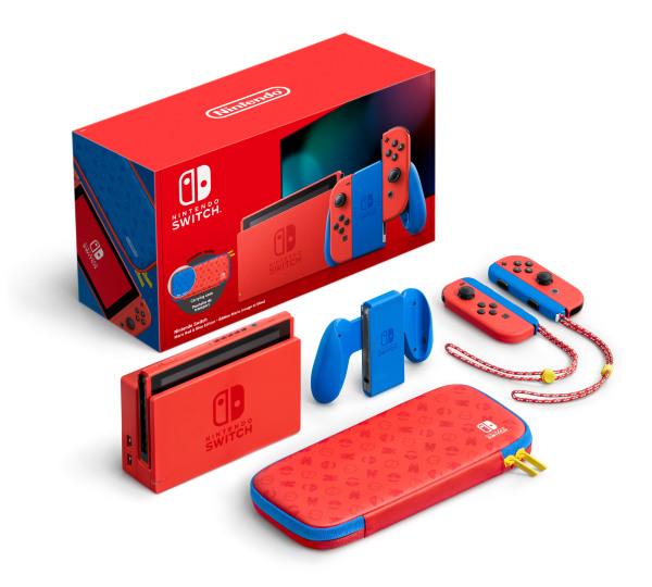Nintendo Switch 2019 Mario Red & Blue Edition
