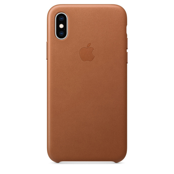 iPhone XS / Apple / Leather Case - Saddle Brown (Fyndvara - Klass 1)