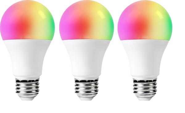Woox Smart Bulb / RGB+CCT / WiFi / E27 - 3-pack (Fyndvara - Kartongskada)