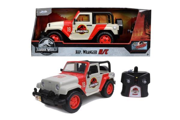 Jada Toys Jurassic Park Radiostyrd Jeep Wrangler 1:16