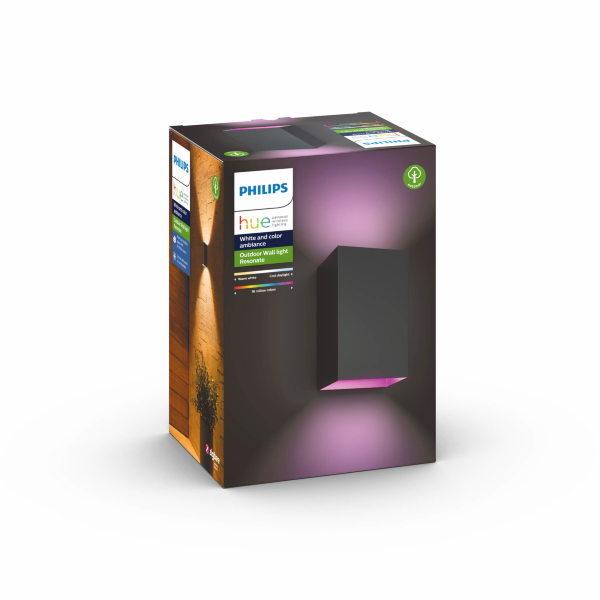 Philips Hue Resonate / Color / Vägg / Utomhus - Svart (Kartongskada)(