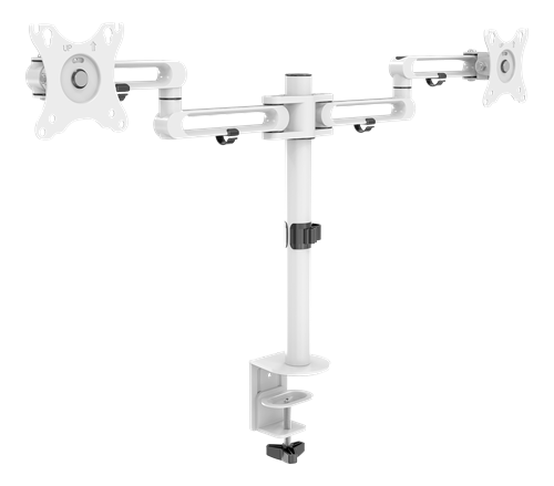 """Deltaco GAM-117-W Dual-Monitor skrivbordsfäste för 2x 17""""-32"""""""