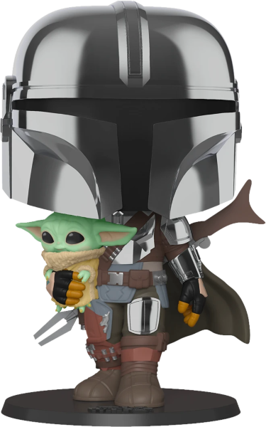 Funko Pop! Movies: Star Wars - Mandalorian with the Child 10 Inch (Kartongskada)