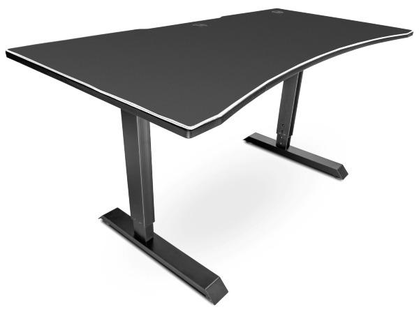 Svive Altair Gaming Desk - Mattsvart med vita sömmar