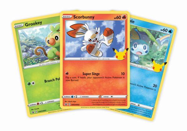 Pokemon 25th Anniversary Galar Starter Oversize Card Pack (3 st)