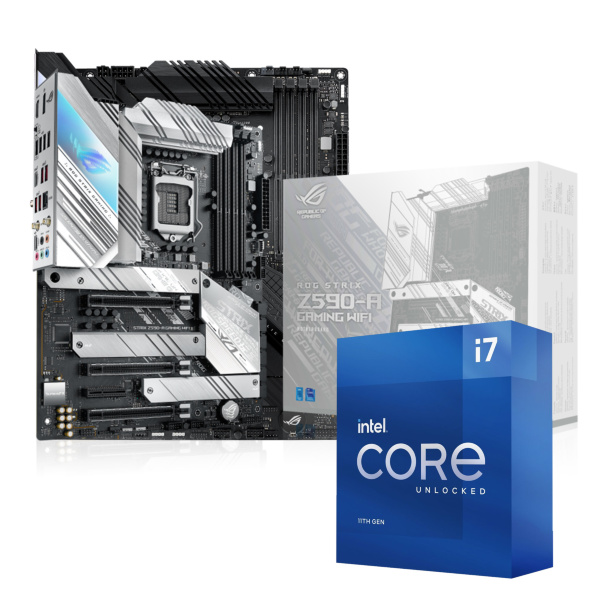 ASUS ROG STRIX Z590-A GAMING WIFI + Intel Core i7-11700K