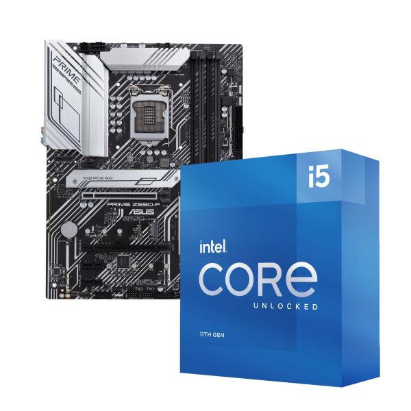 ASUS PRIME Z590-P + Intel Core i5-11600K