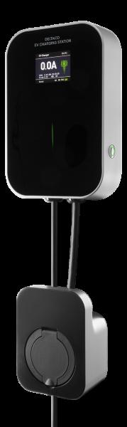 DELTACO e-Charge laddbox för hemmabruk med 6-16A 1-fas med uttag typ 2