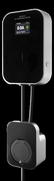 DELTACO e-Charge laddbox för hemmabruk med 16A 3-fas med uttag typ 2