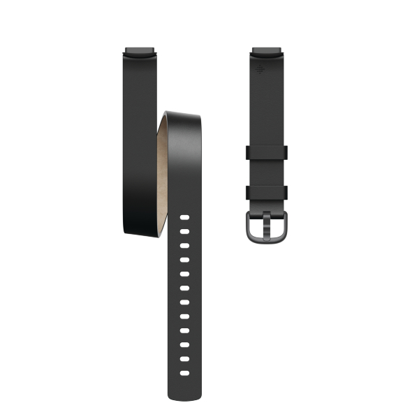Fitbit Luxe / Leather Double Wrap/Black - One Size