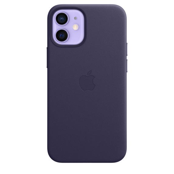 Apple iPhone 12 mini Leather Case / MagSafe - Deep Violet