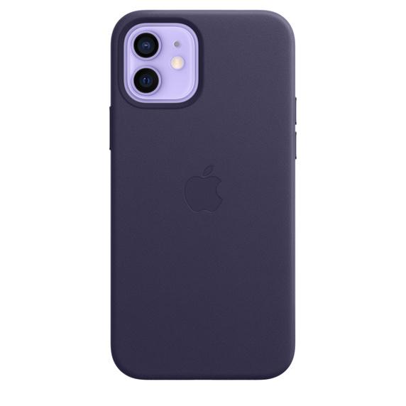 Apple iPhone 12 / 12 Pro Leather Case / MagSafe - Deep Violet