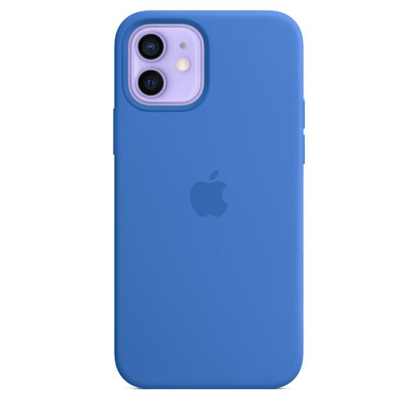 Apple iPhone 12 / 12 Pro Silicone Case / MagSafe - Capri Blue