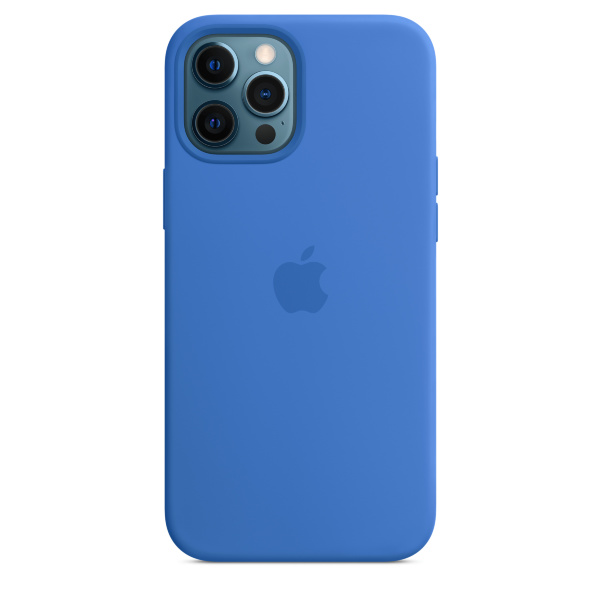 Apple iPhone 12 Pro Max Silicone Case / MagSafe - Capri Blue
