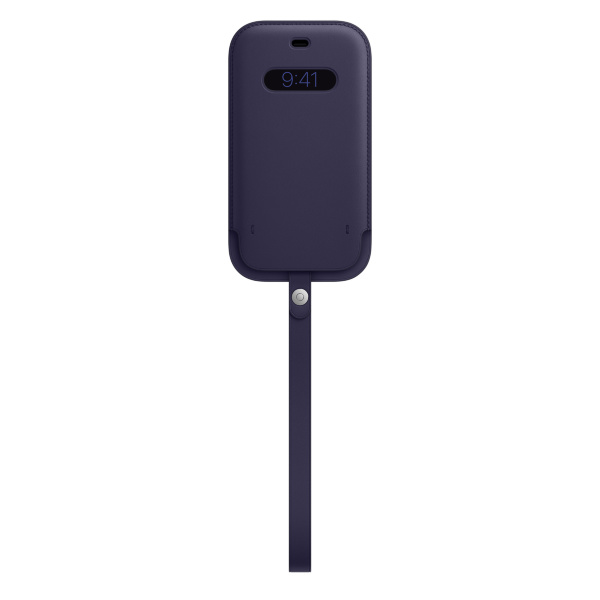 Apple iPhone 12 / 12 Pro Leather Sleeve / MagSafe - Deep Violet