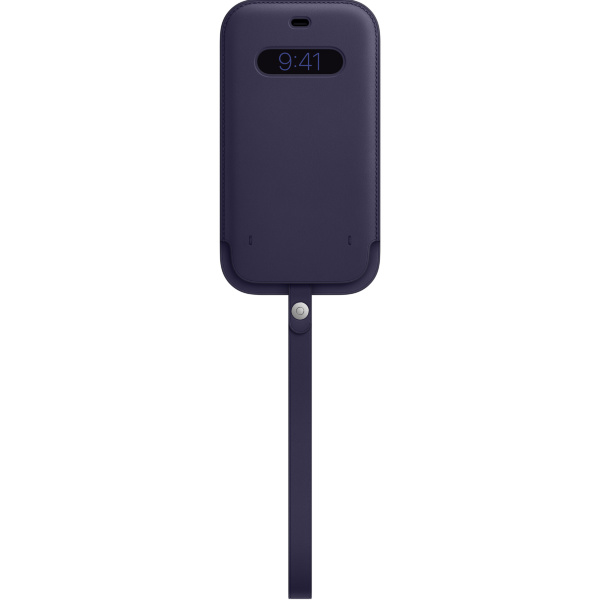 Apple iPhone 12 Pro Max Leather Sleeve / MagSafe - Deep Violet