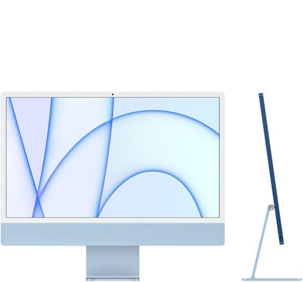 """Apple 24"""" iMac / Retina 4.5K / Apple M1chip / 8-core CPU / 8-core GPU / 512GB - Blue"""