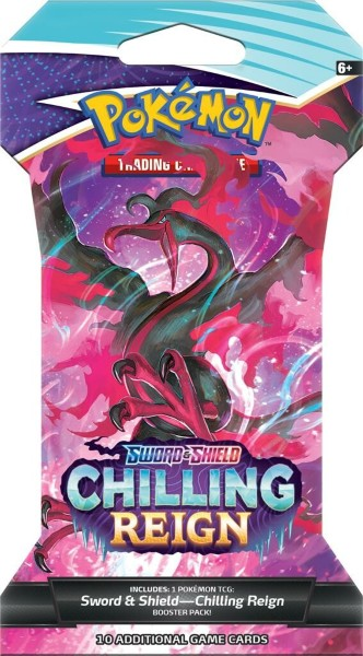 Pokemon Sword & Shield 6: Chilling Reign Sleeved Booster Box (24 boosters)