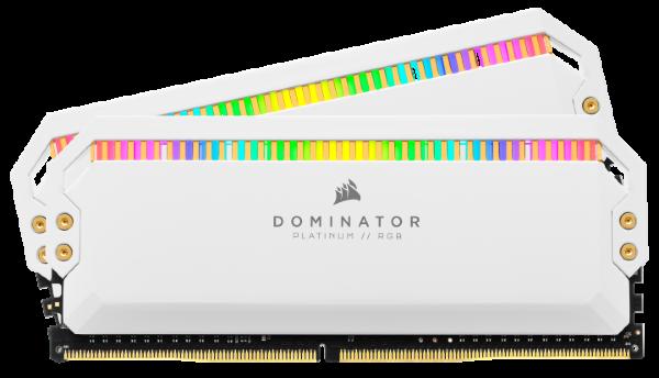 Corsair Dominator Platinum RGB 16GB (2x8GB) / 3200MHz / DDR4 / C16 / AMD - Vit (Fyndvara - Klass 1)