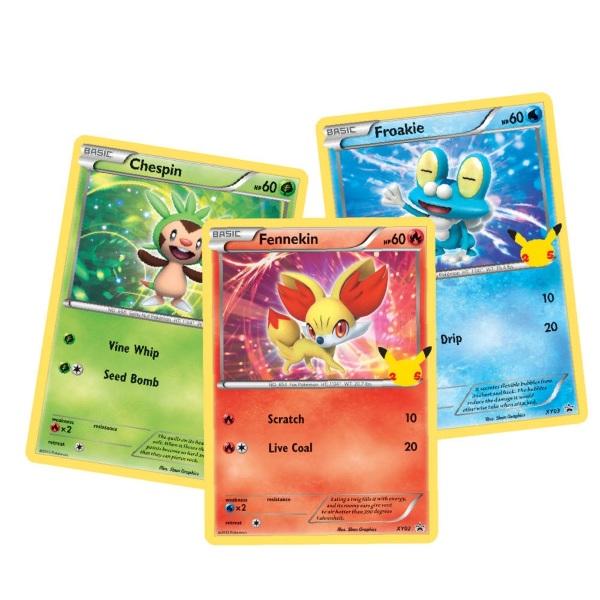 Pokemon 25th Anniversary An Kalos Starter Oversize Card Pack (3 st)