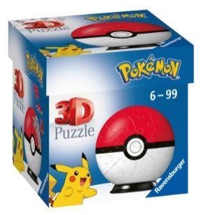 Pokémon 3D Pussel - Pokéball (54-bitar)