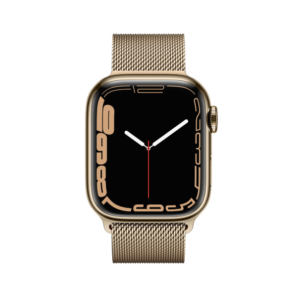 Apple Watch Series 7 - 41mm / GPS + Cellular / Gold Stainless Steel Case / Gold Milanese Loop