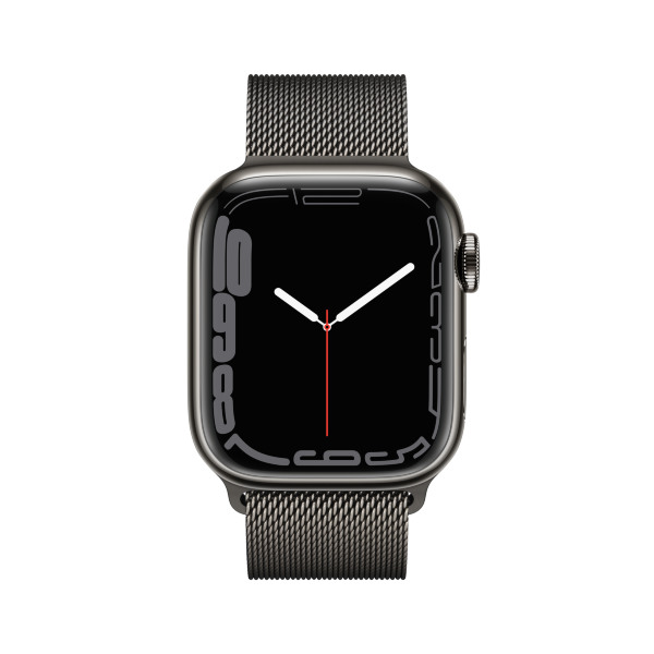 Apple Watch Series 7 - 41mm / GPS + Cellular / Graphite Stainless Steel Case / Graphite Milanese Loo