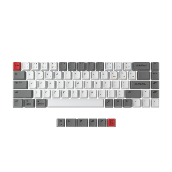 Keychron K6 PBT Keycap Set ISO Nordic - Retro