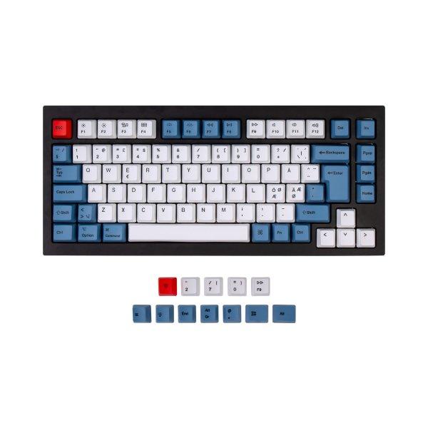 Keychron Q1 PBT Modern Keycap set ISO Nordic - Blue Vibe