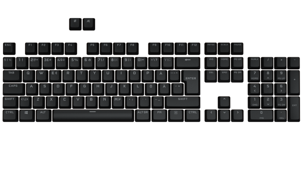 Corsair PBT Double-Shot Pro Keycap Mod Kit - Nordic - Onyx Black