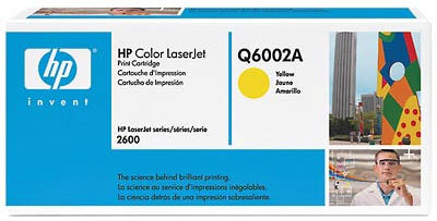 HP Toner Q6002A Gul
