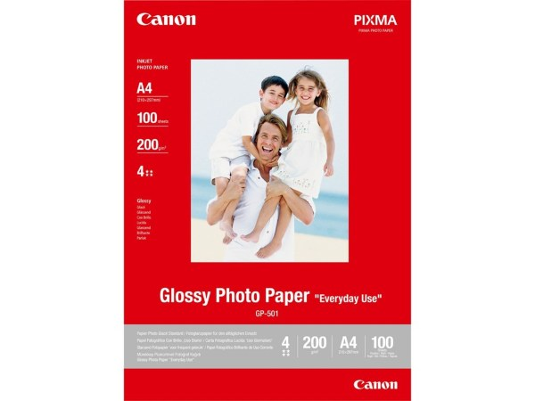Canon Fotopapper GP-501 Glossy A4 (100 Ark) (200gram)
