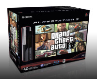 Playstation 3 Basenhet - Black 40GB - Grand Theft Auto (GTA) IV (4) Bundle