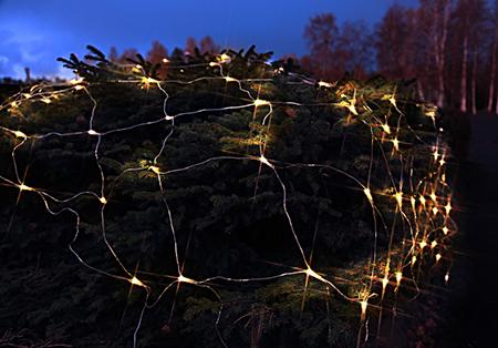 Led n t 180 ljus 3x3m transparent kabel varmvit for Mobilia webhallen